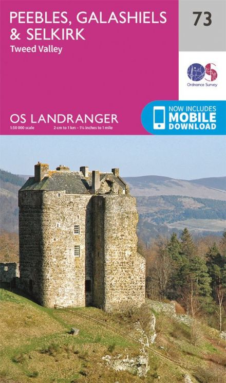 OS Landranger 73 Peebles, Galashiels and Selkirk
